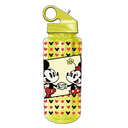 0fbb031c9e Image Unavailable. Image not available for. Color: Silver Buffalo DL1164 Disney  Mickey and Minnie Mouse Tritan Water Bottle ...