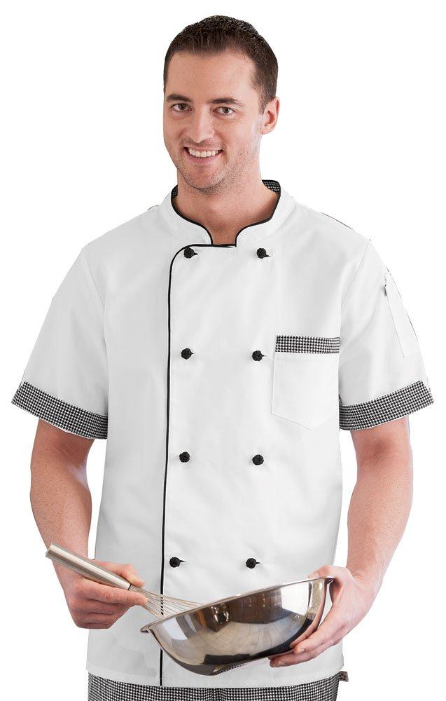 Short Sleeve Executive Chef Coat White XS by White Swan