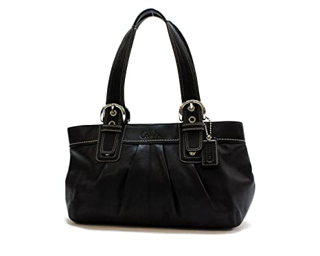Image Unavailable. Image not available for. Color  Coach Womens Soho Black  Leather Tote ... 65e72dadf4