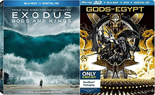 The Gods 2 Pack Exodus Kings + Gods of Egypt 3D Blu Ray DVD Edition + DHD Set Epic Double Feature