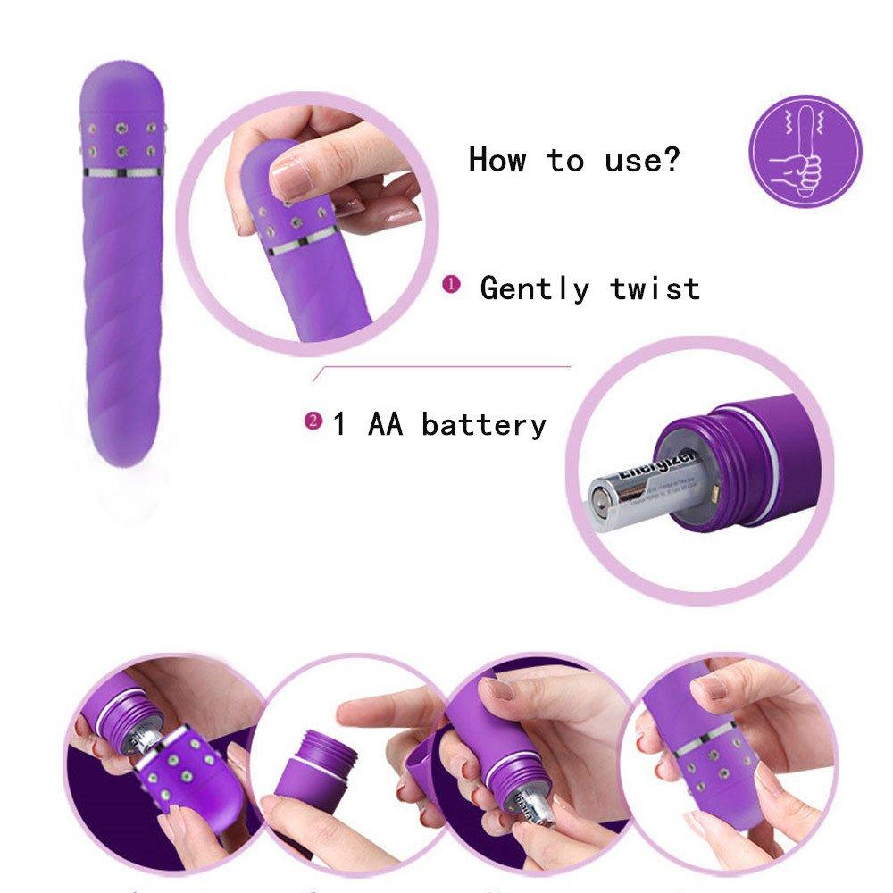 Santchcz Diseño En Espiral Dildos Vibrador Multi-Speed Impermeable Juguetes De Púas Impermeable Multi-Speed G Spot Seguro Vibrador Producto,Pink b8d6da