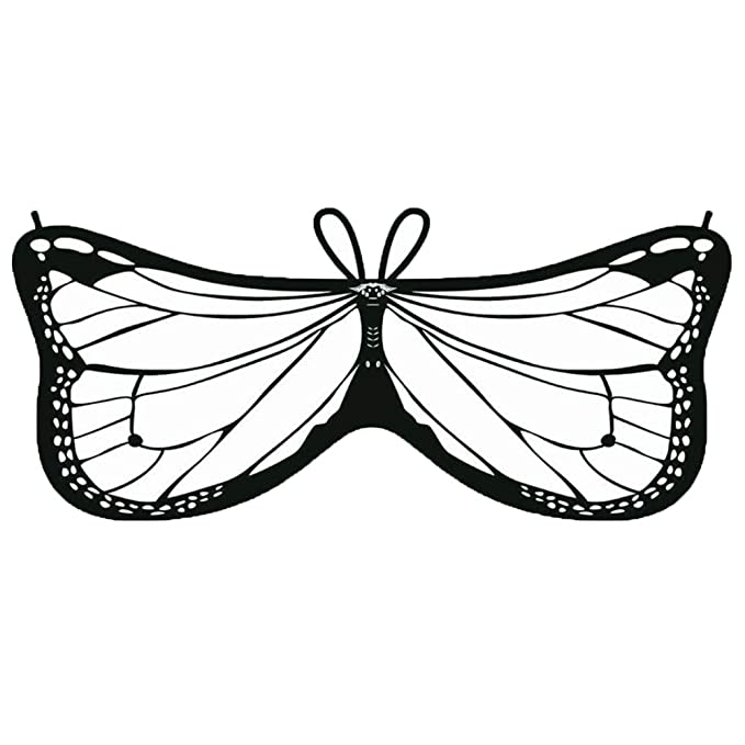 Ywlink Kind Bunt Chiffon Karneval Schmetterling Flugel Creative