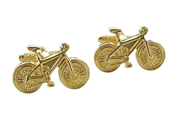 Classic Cyclists Bike Bicycle Cufflinks Presented In Onyx