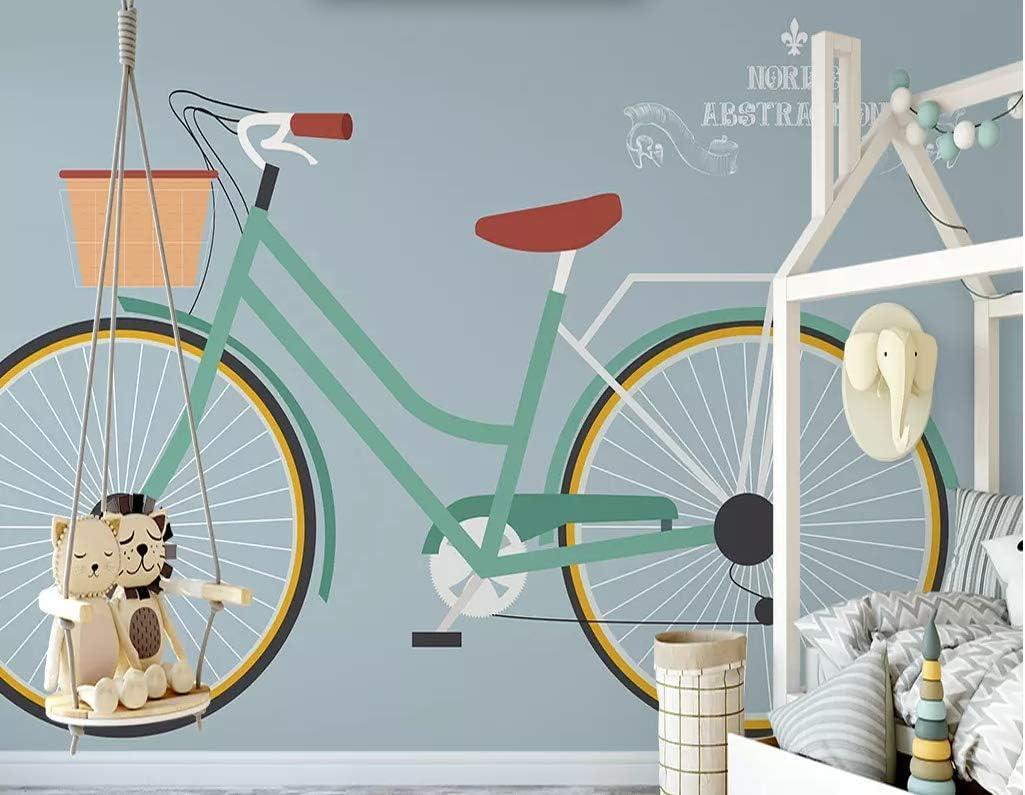 papel pintado 3D personalizado Pared Wallpaper Bicicleta Dibujada A Mano dormitorio cocina 3D empapelar Fotomural Decoración damasco murales decoración de paredes moderna: Amazon.es: Bricolaje y herramientas