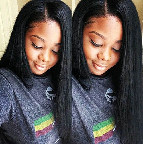 SINA Virgin Brazilian Human Hair Weaves Straight 3 Bundles 8 10 10 with 10 inches Silk Base Closure