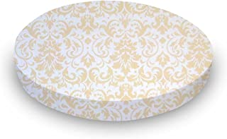 product image for SheetWorld Round Crib Sheets - Cream Damask - Made In USA