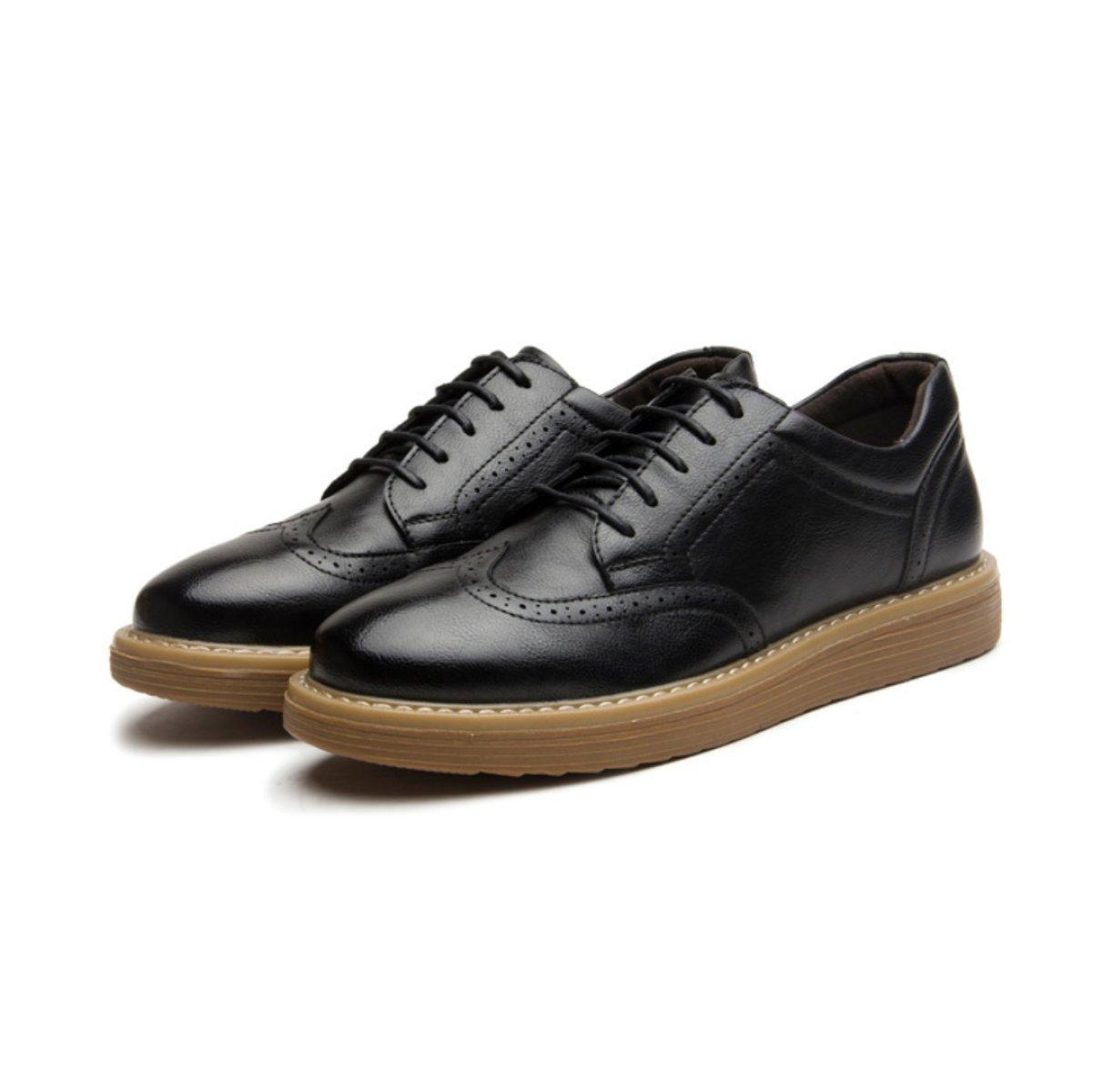 LYZGF Zapatos De Ocio Para Hombres De Negocios Para Jóvenes Zapatos De Encaje De Moda Para Hombres,Black-38 38|Black