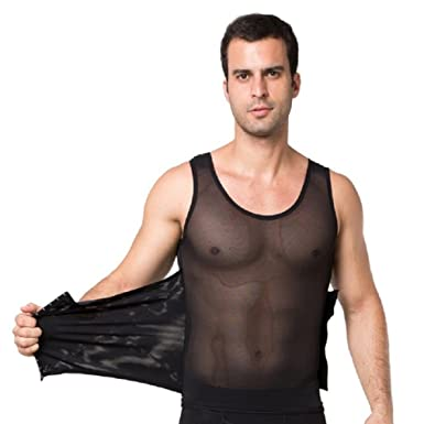 7f430e7655e Amazon.com  Valentina Mens Body Shaper Slimming Shirt Tummy Waist  Compression Top Slim Muscle Tank Shapewear Hot Comfortable Bodyshaper   Clothing