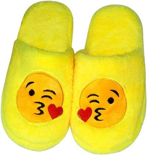 Luoem Chaussons Peluche Coton Hiver Pantoufle Chaussons Chauds