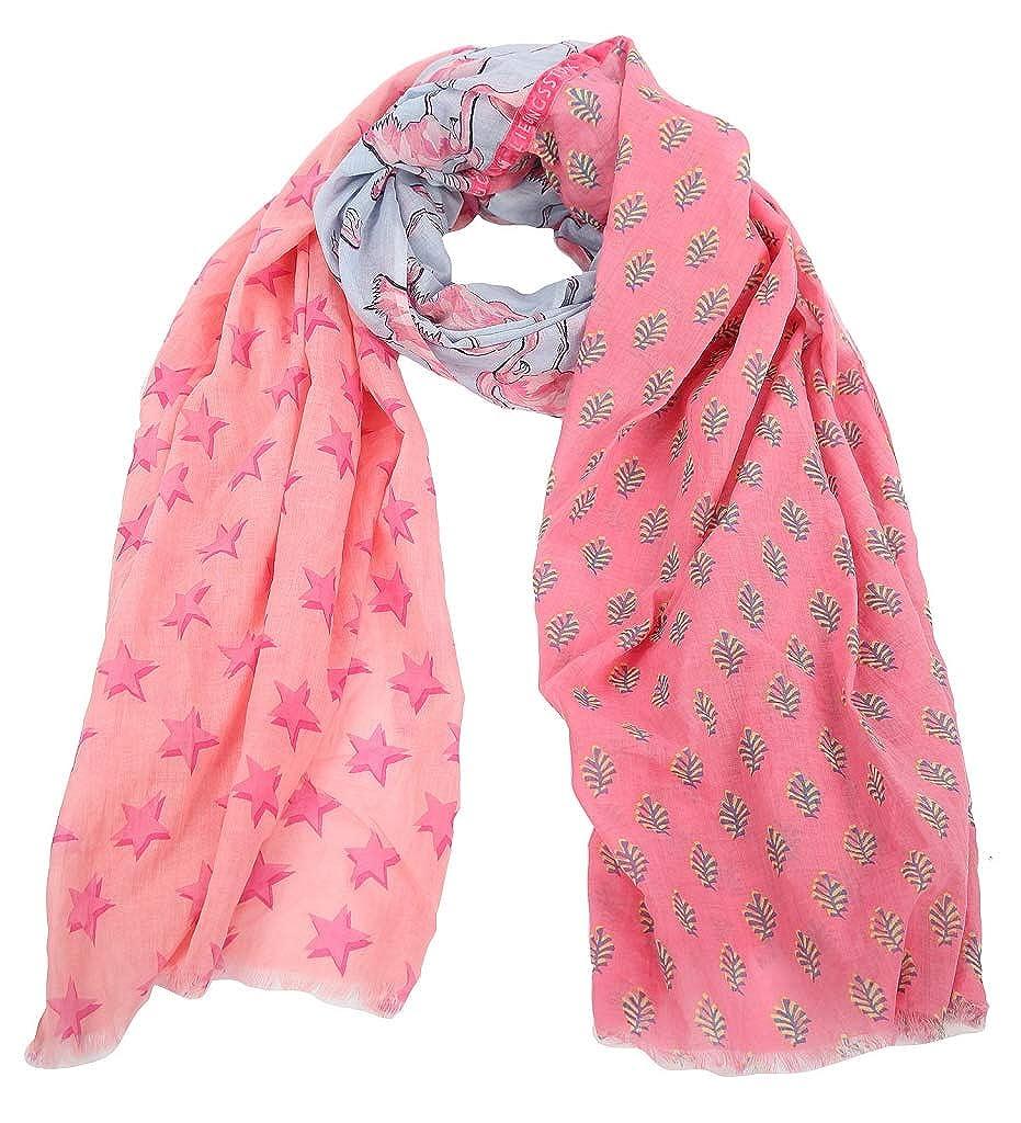 Lieblingsst/ück Tuch MADONNAL Allover Druck Fransen Muster rosa