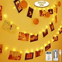 Anpro Clip de Cadena Luces LED Foto, 5M