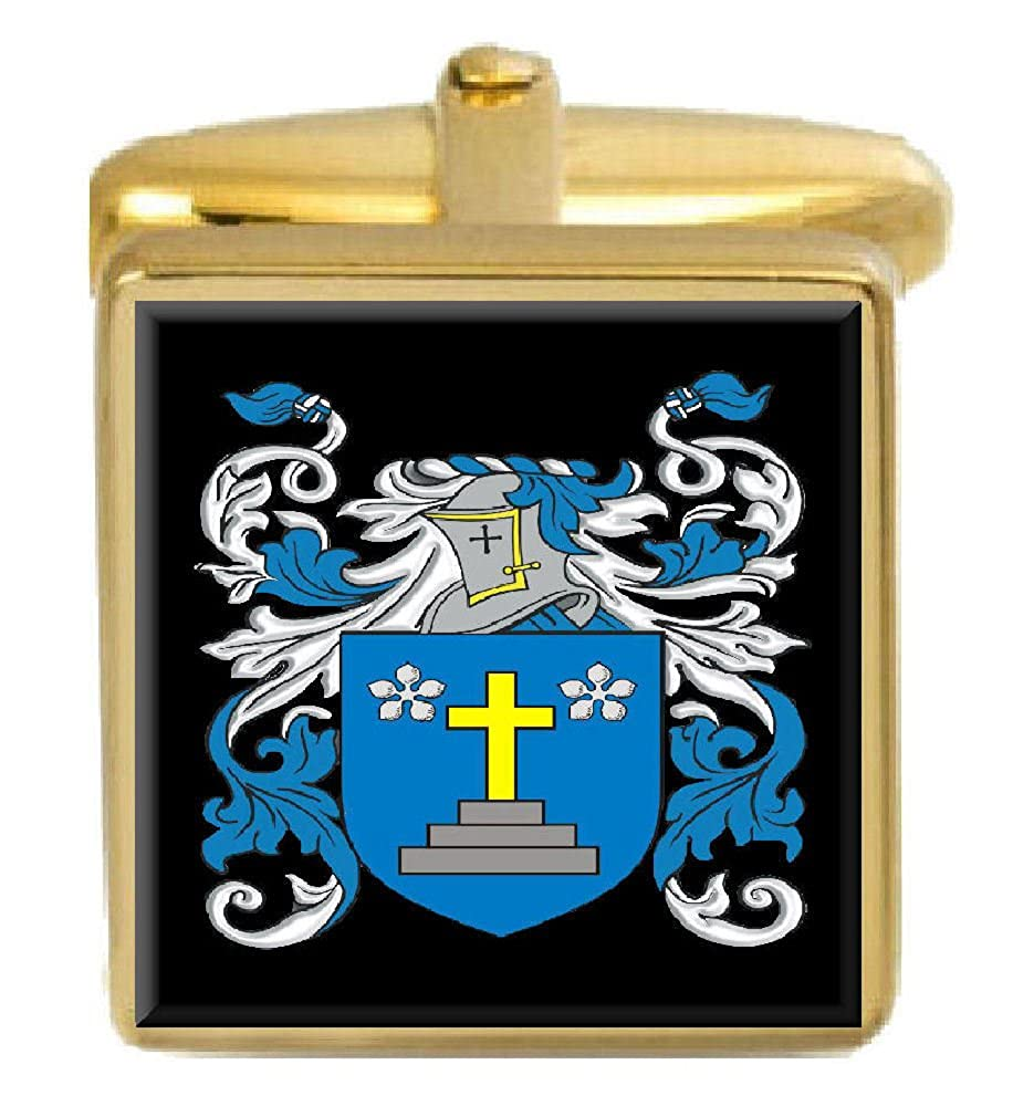 Select Gifts Nimmo Scotland Family Crest Surname Coat Of Arms Gold Cufflinks Engraved Box
