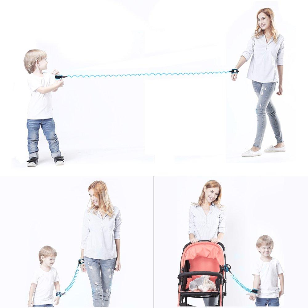 Anti Lost Wrist NuoYo Baby Child Wrist Safety Link Adjustable Toddler 1.5M Anti Lost Wrist Rein Harness Blue