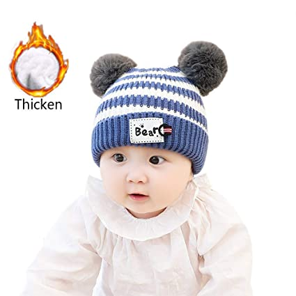 d8d81766a8c Amazon.com  Gbell Baby Toddler Winter Knitted Hat Pom Pom - Cute ...