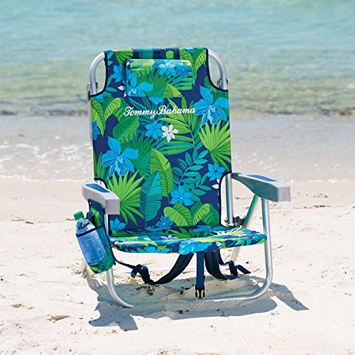Tommy Bahama Backpack Cooler Chair with Storage Pouch and Towel ()