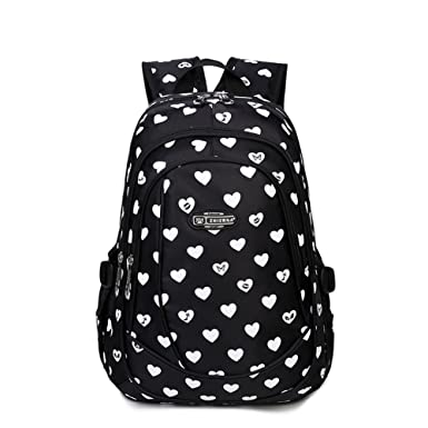 Amazon.com | Heart Shaped Waterproof Backpack for Junior Grade or ...