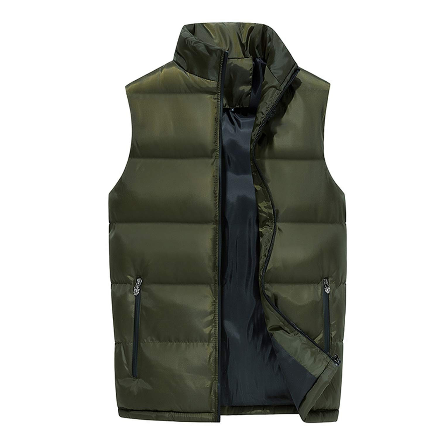 Fashion Men Cotton Vest Autumn and Winter Thickening Warm Vesst Men Windproof Sleeveless Jacket Mens Lovers Couple Waistcoats