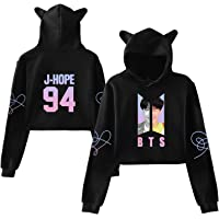 Kpop BTS Love Yourself Answer Hoodie Cat Ear Sweater Jimin Suga V Jung Kook Pullover Jacket