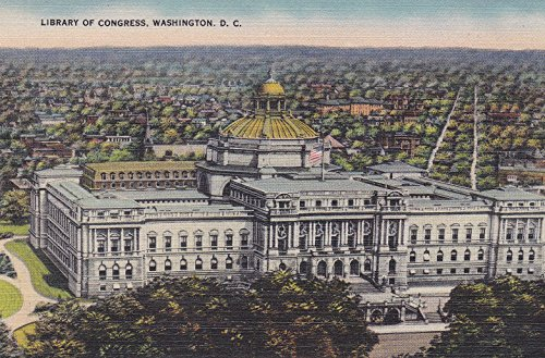 Library Of Congress Dc - 11594 COLLECTIBLE UNUSED LIBRARY OF CONGRESS, WASHINGTON, D.C. POSTCARD. ((VERY GOOD CONDITION)) from Hibiscus Express