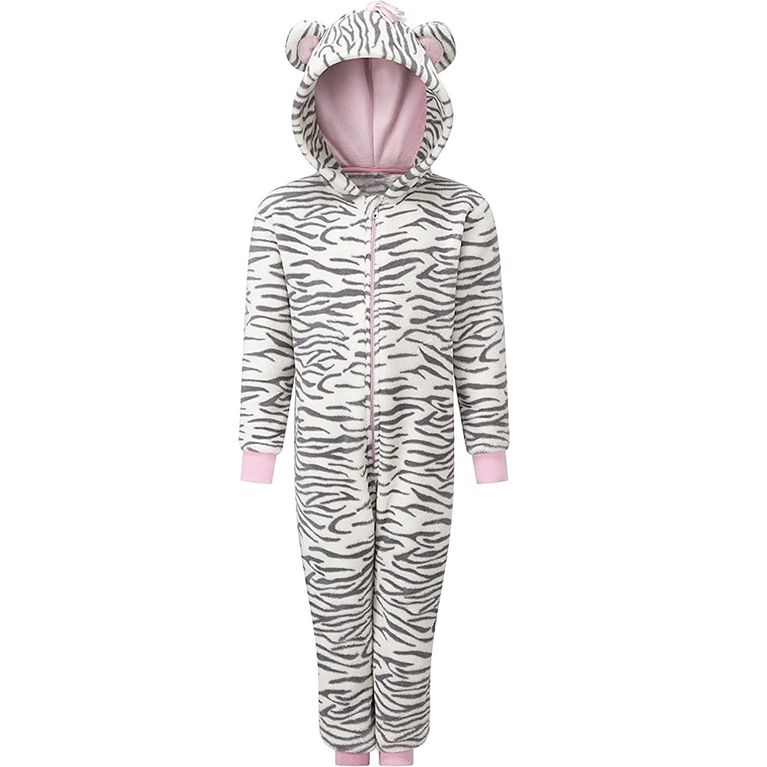 Animal Crazy Filles Supersoft Zèbre Rayures Combinaison Ensemble