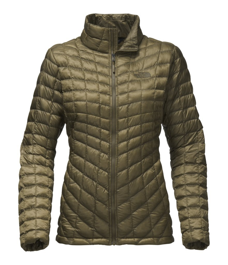 The North Face Women's Thermoball Full Zip Jacket - Burnt Olive Green - M (Past Season)
