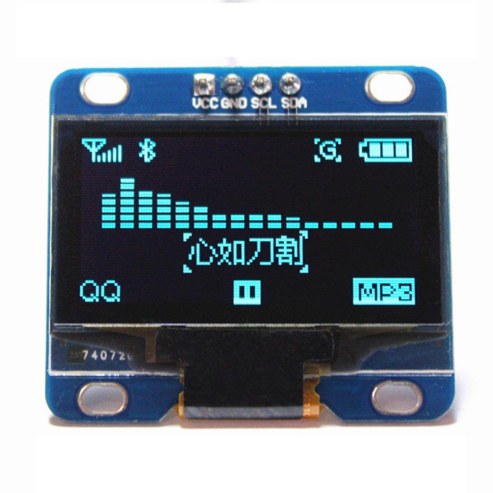 1.3 Blue OLED Display I2C IIC Serial 128X64 LCD LED Module SH1106 for Arduino Raspberry Pi DIYmall FZ1427-1