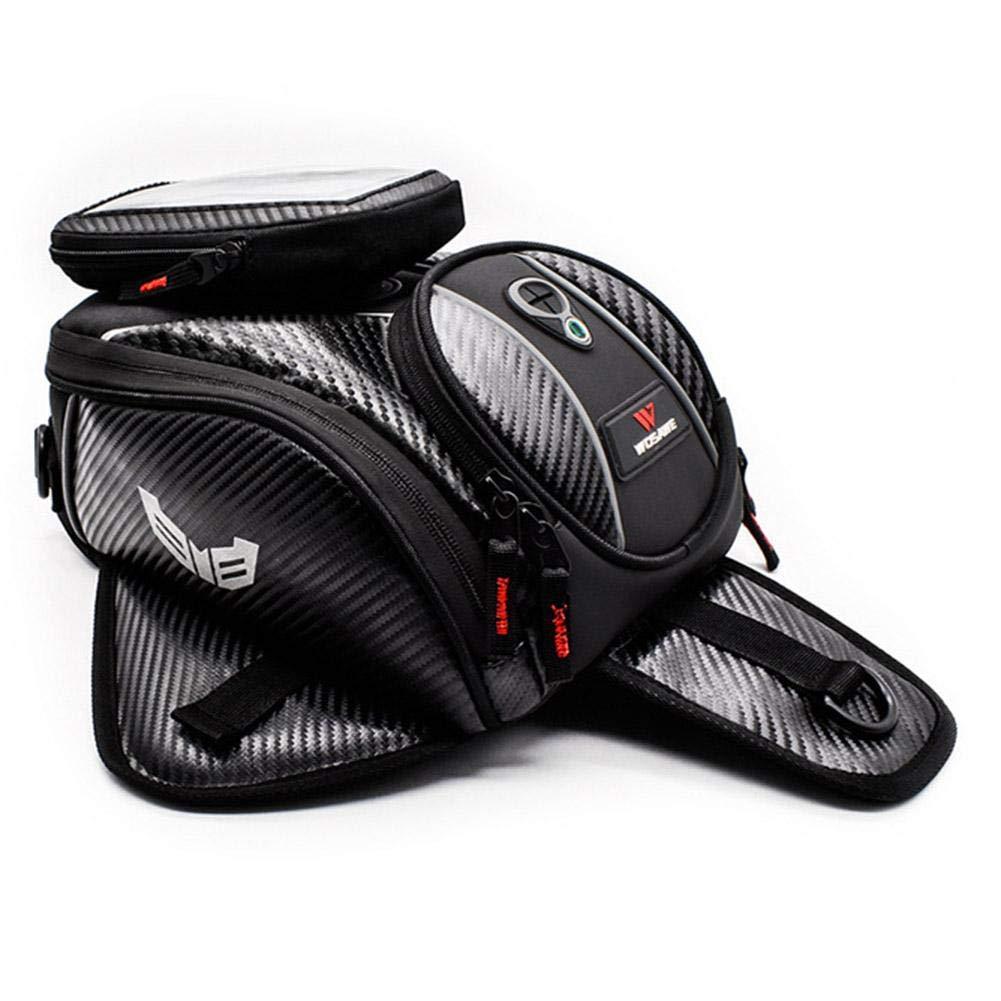 Lozom Borsa per Serbatoio Olio per gasolio Zaino Impermeabile e Borsa per Serbatoio Magnetica per Moto per Honda Yamaha Suzuki Kawasaki Harley heling896 Borsa per Serbatoio Carburante