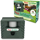 6-in-1 Pest Soldier Sentinel, Outdoor Electronic Pest Animal Ultrasonic Repeller, with Ac Adaptor For Deer Raccoon Rabbits Birds