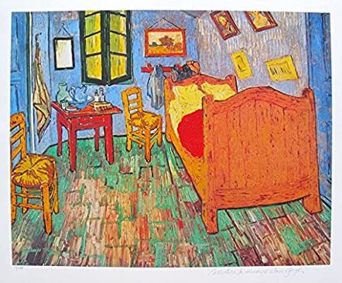 VINCENT VAN GOGH Estate Signed Giclee VAN GOGH/'S BEDROOM