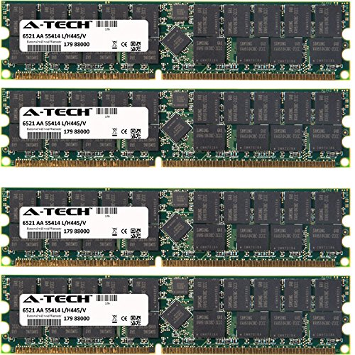 2gb Ddr Ecc Registered (8GB KIT (4 x 2GB) For SuperMicro P4Q Series SUPERH6. DIMM DDR ECC Registered PC2700 333MHz Single Rank RAM Memory. Genuine A-Tech Brand.)
