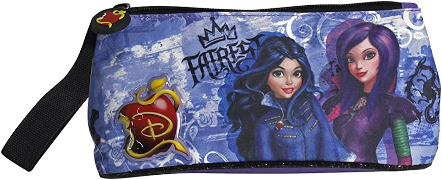 PERLETTI - Disney Descendants Estuche Escolar Portatodo para Niña con Cremallera (21cm x 10cm x 8cm): Amazon.es: Equipaje