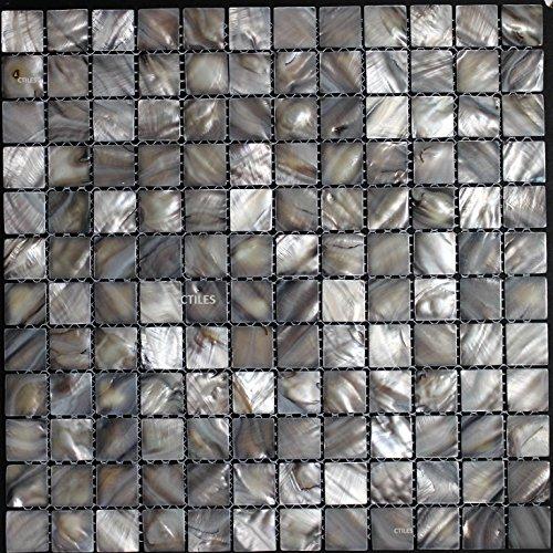 (Mother of pearl tile square ash grey shell tiles for backsplash bathroom walls and)