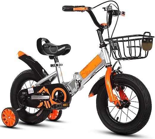 YUMEIGE Bicicletas Bicicletas 12 14 16 18 20 Pulgadas, Bicicleta Infantil Plegable Desde 5 Segundos, Bicicleta para niña con Ruedas de Entrenamiento, Regalo 2-15 años Disponible: Amazon.es: Jardín