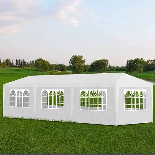 ghuanton Carpa de Fiesta 3x9 8 Paredes Blanca Casa y jardín Jardín Artículos de Exterior Estructuras de Exteriores Pabellones y cenadores: Amazon.es: Hogar