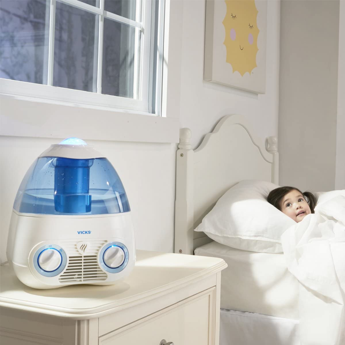 Vicks Starry Night Cool Moisture Humidifier with Projector /& VapoPad Scent Pad Heater Pink