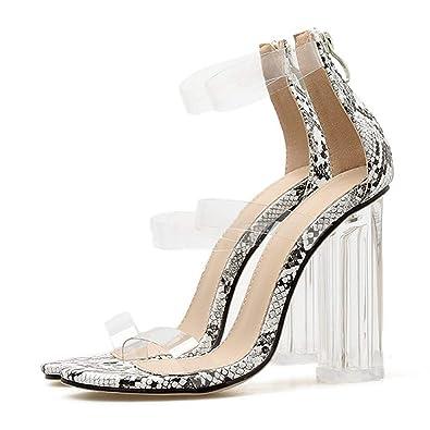 a6e1bebddd Amazon.com | Sexy Kim Kardashian Perspex Heels Zip Clear Heels ...
