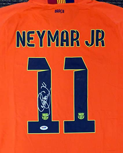 d9611f4c9ec Image Unavailable. Image not available for. Color  Neymar Jr. Autographed  Barcelona Qatar Airways ...