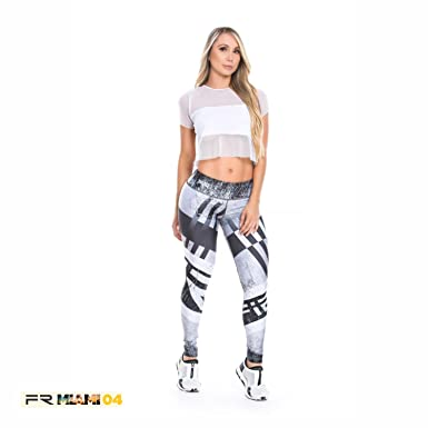 ffc92837a1301 Fiber Activewear Leggings Womens Gym Workout Tights Pants Colombian ...