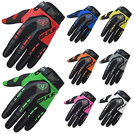 Wulfsport Adult Attack Motocross Gloves MX Motorcycle Motorbike Gloves - Red L