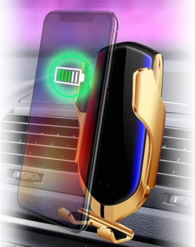 Supporto per Ricarica Rapida Juntful 10 W Caricatore da Auto Wireless con sensore Intelligente con bloccaggio Automatico