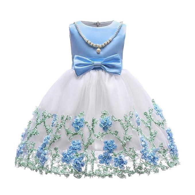 Beikoard Niña Vestido Liquidación, Vestido de Princesa Floral niña Princesa Vestido de Novia de Dama