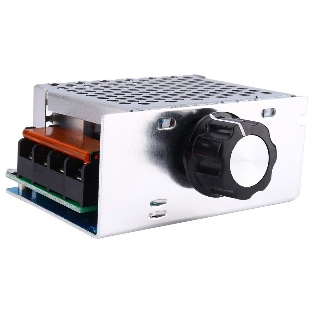 High Power 4000W 220V AC SCR Voltage Regulator Motor Speed Controller Electric Adjustable Speed Controller by Wal front (Image #5)