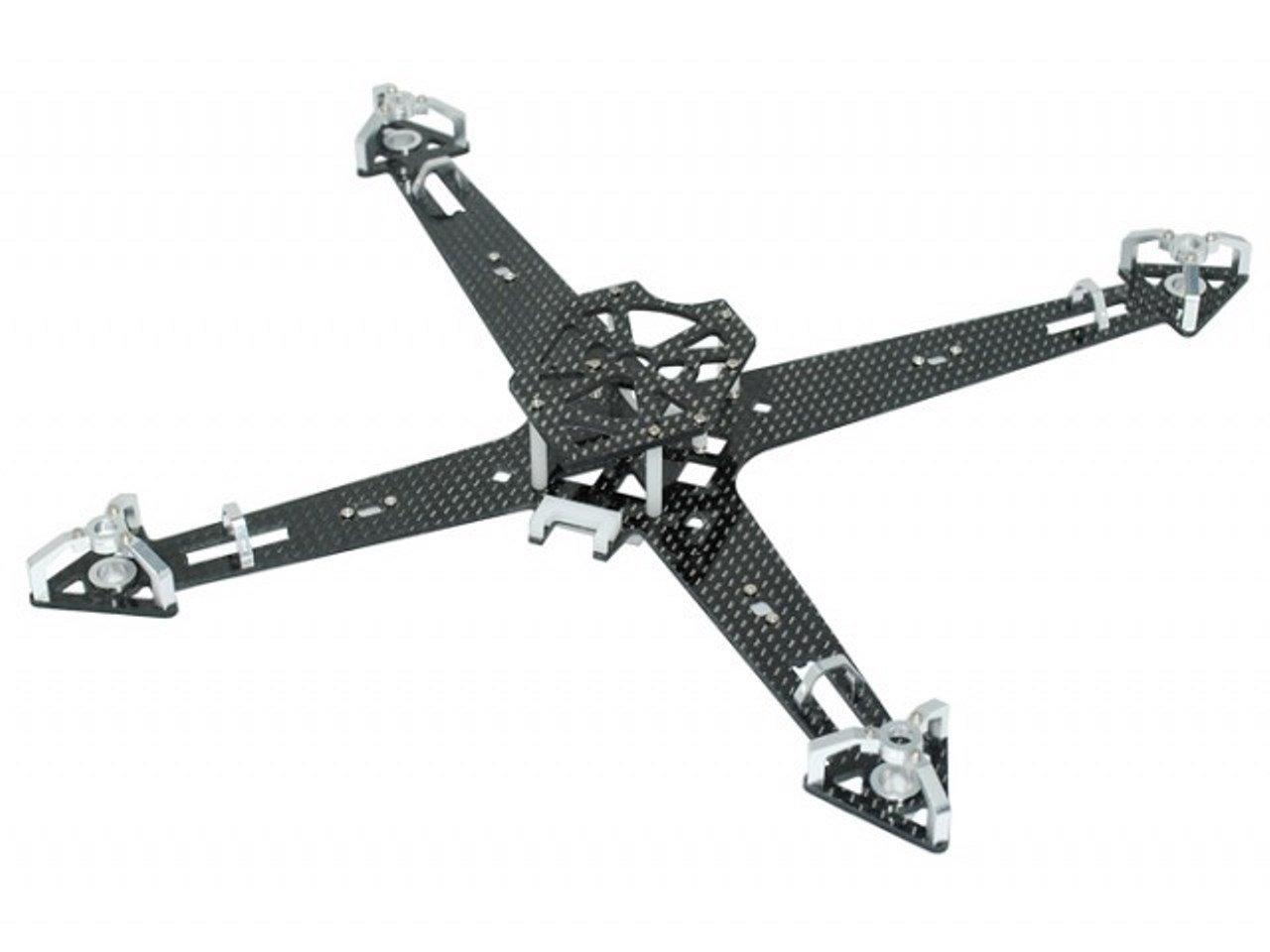 Amazon.com: Microheli CNC Aluminum/Carbon Fiber Quadcopter Frame Kit ...