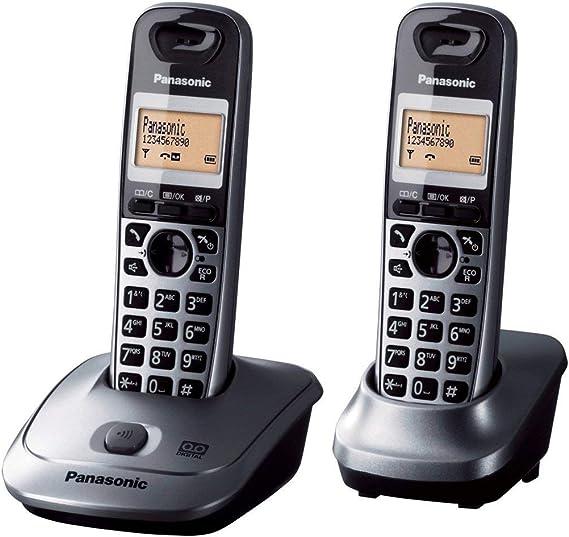 Panasonic KX-TG2522 - Teléfono inalámbrico (contestador automático, DECT, función manos libres, baja radiación): Amazon.es: Electrónica