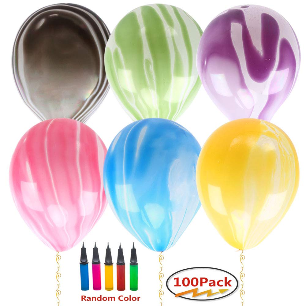 Decorations Home & Garden Balloons 100 PCS Assorted Agate Latex ...