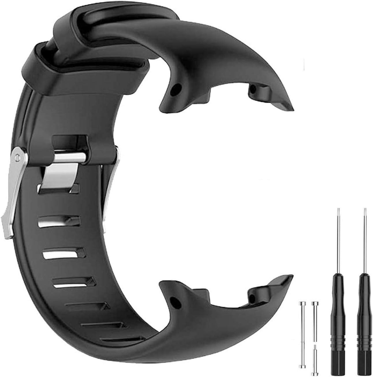 JTMM Correa para SUUNTO D4 / D4i Novo GPS Watch Banda de Reloj de Repuesto, Correa de Pulsera de Silicona Suave Smartwatch Bracelet Band con Herramientas de eliminación
