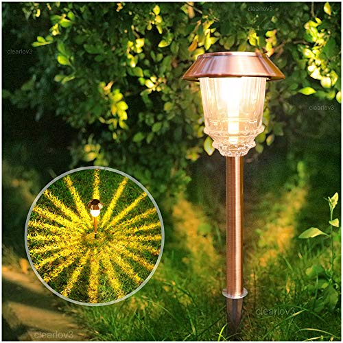 UPSTONE Solar Pathway Garden Lights Outdoor Super-Bright 12-32 Lumens,Solar Landscape Lights for Lawn Patio Yard Pathway Walkway, All-Weather/Water-Resistant, 1 Pack