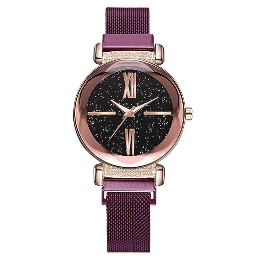 7f3e02a3ab31 DAYLIN Marcas de Relojes Mujer Señora Moda Reloj Pulsera de Cuarzo para  Mujer Correa de Malla Reloj Magnetico Cielo Estrellado Joya Regalos   Amazon.es  ...