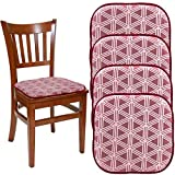 "DreamHome (Set Of 4) Nonslip Chair Pads For Dining Chairs Office Chairs, 16"" x 16"" Indoor Memory Foam Gripper Chair Pad Cushion For Kitchen Chairs, Seat Pillow For Rocking Chair"
