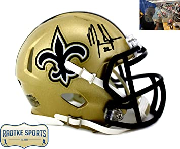 fb4dcb7be Mark Ingram Autographed Signed New Orleans Saints Speed Mini Helmet ...